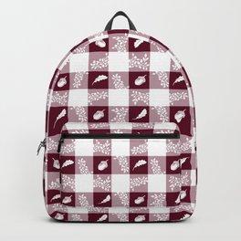 Acorn Plaid - Bordeaux Backpack