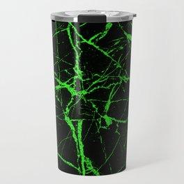 Green Marble - Green, textured, abstract pattern Travel Mug