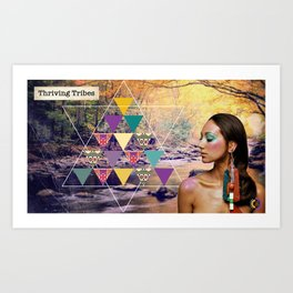 Thriving Tribes Art Print
