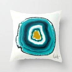 Agate Turquoise  Throw Pillow