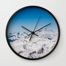 The view of Mont Blanc, Val Thorens, France. Wall Clock