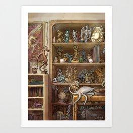 Chimaera Shelf Art Print