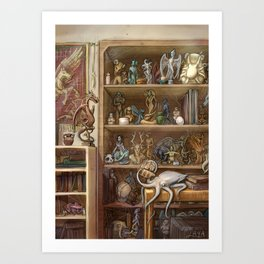 Chimaera Shelf Art Print