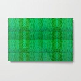 Greenish pattern of borders .. Metal Print