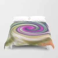 circle Duvet Covers featuring  circle by Karl-Heinz Lüpke