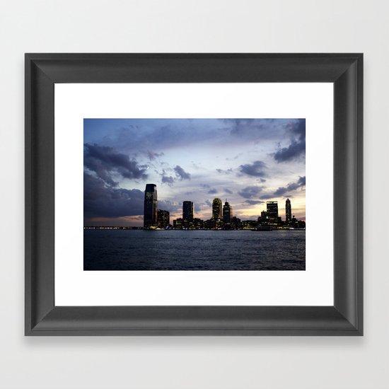 Sunset on the Hudson Framed Art Print