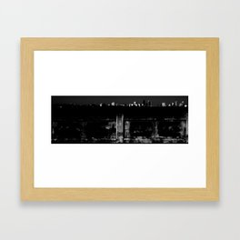 The Bridge to Downtown (Jacksonville, FL) Framed Art Print