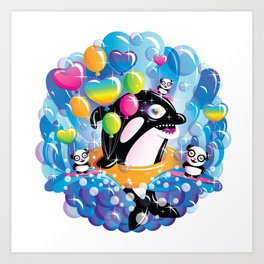Coked Out Orca Art Print