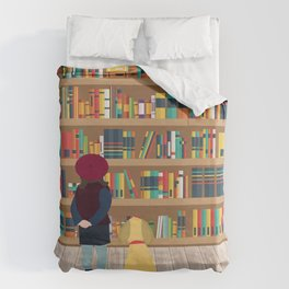 Take a book to kennel Duvet Cover