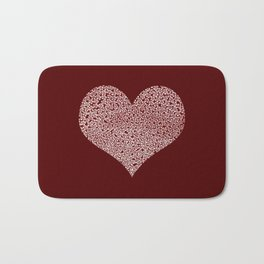 Hearts and Flowers Bath Mat