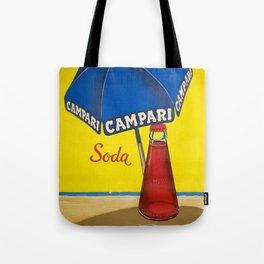 Vintage 1950 Campari Soda Lugano Advertisement by Traub Tote Bag