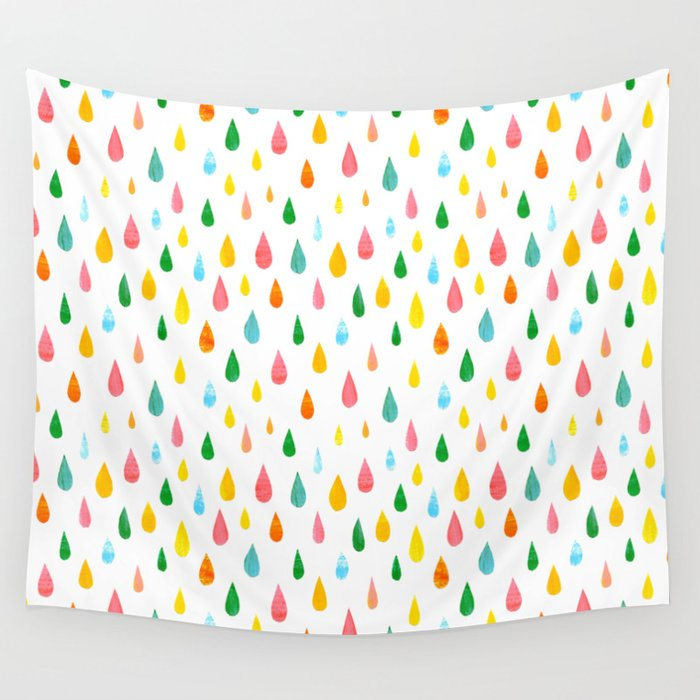 Happy Rain Wall Tapestry