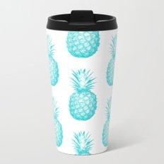 Teal Pineapple Metal Travel Mug