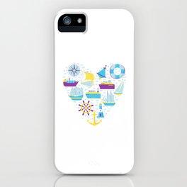 Nautical Heart Sailing Love Seaman Gift iPhone Case