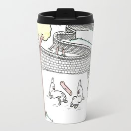 Condoms Cannot Break that Wall Travel Mug