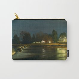 Wehr's Dam At Night - Holiday Lights Carry-All Pouch