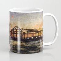 boardwalk empire Mugs featuring Boardwalk by Leon T. Arrieta