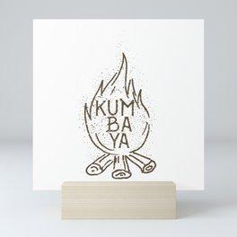 Kumbaya campfire Mini Art Print