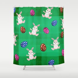 Easter Bunny Pattern ( Version II ) Shower Curtain