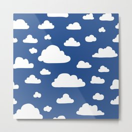 Cloud - Sea Blue Metal Print
