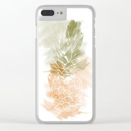 Pineapple vibes Clear iPhone Case