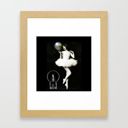 Buster & the Ballet Dancer Framed Art Print