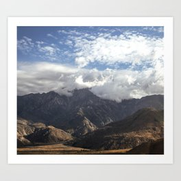 wrinkle mountain Art Print