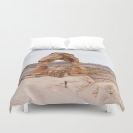 Early Morning at Delicate Arch Duvet Cover