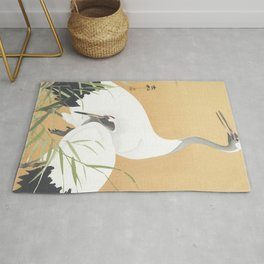 Couple Of Cranes - Vintage Japanese Woodblock Print Art Rug