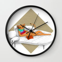 napping while reading Wall Clock