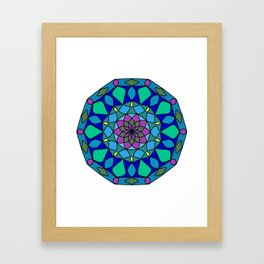 Circles ornament mandala Framed Art Print