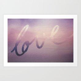 love purple Art Print