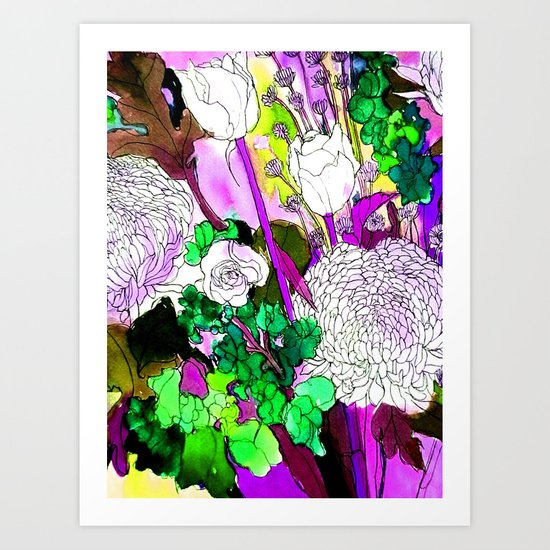 forest flowers 2 Art Print