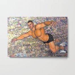 Flying Man over Los Angeles 2 Metal Print
