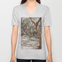 Sacsayhuaman trees Unisex V-Neck