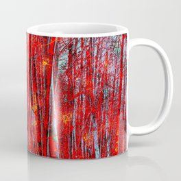 Wooded in Red Coffee Mug