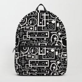 Rectangles and Elipses in BnW (2018) Backpack