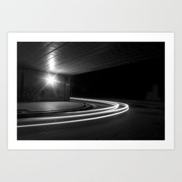 At the speed of light Art Print