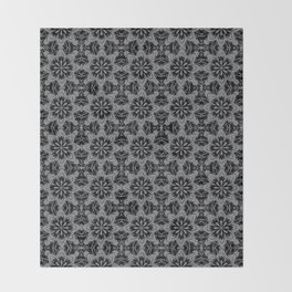 Sharkskin Floral Throw Blanket