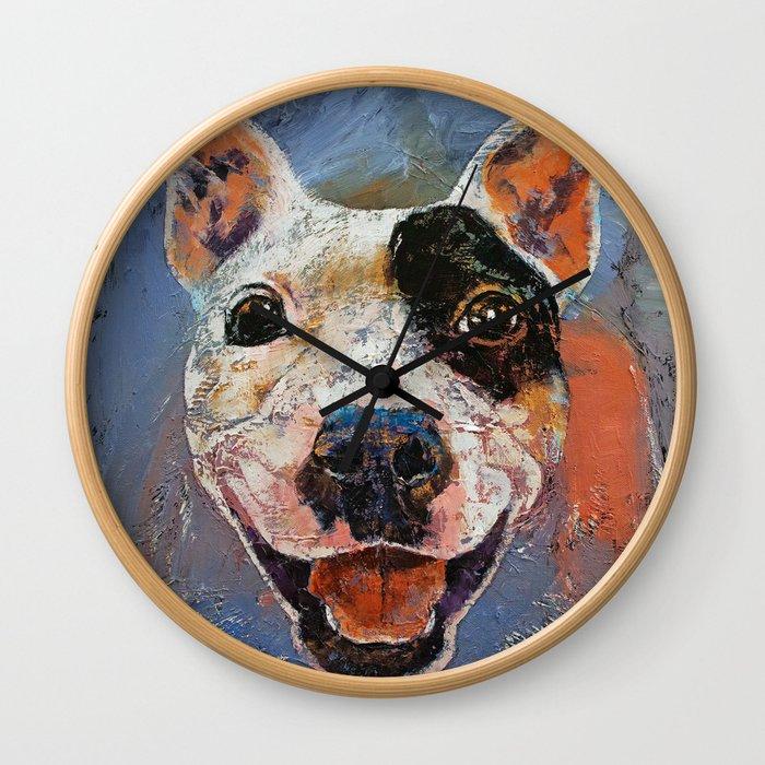 Happy Pitbull Wall Clock