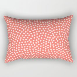 Living Coral Samekomon Spring Rectangular Pillow