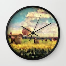 Gathering At Kenai'i Wall Clock