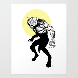 Loup-garou Homme Art Print