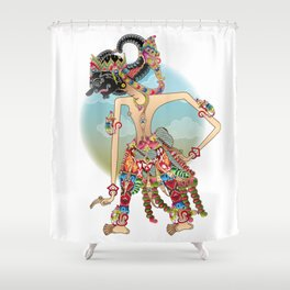 Antareja shadow Puppet character Shower Curtain