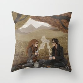Lily and James, Autumn Picnic Throw Pillow