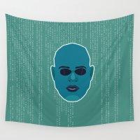 matrix Wall Tapestries featuring Morpheus - Matrix by Kuki