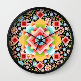 Geometric Chintz Mandala Wall Clock