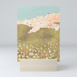 Wildflowers on Santorini Island, Greece Mini Art Print