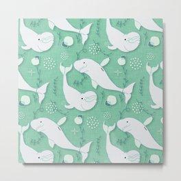 Beluga Whale Aqua #homedecor Metal Print