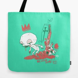 My little zombie - green version Tote Bag